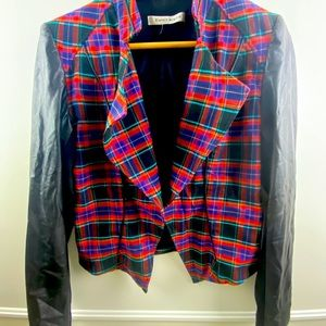 Peter nygard plaid blazer